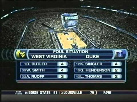 2008 NCAA Tournament - WVU vs Duke - 2nd Half