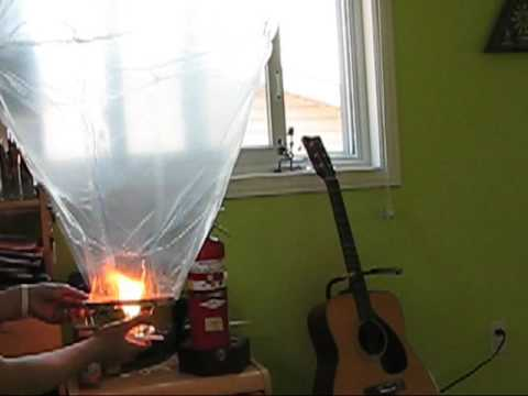 Homemade hot air balloon - YouTube