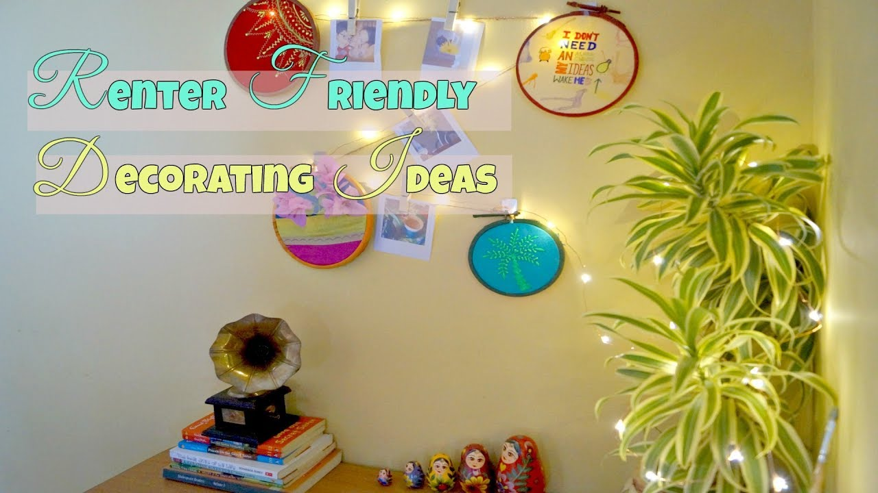 Renter Friendly Wall Decor Ideas - YouTube