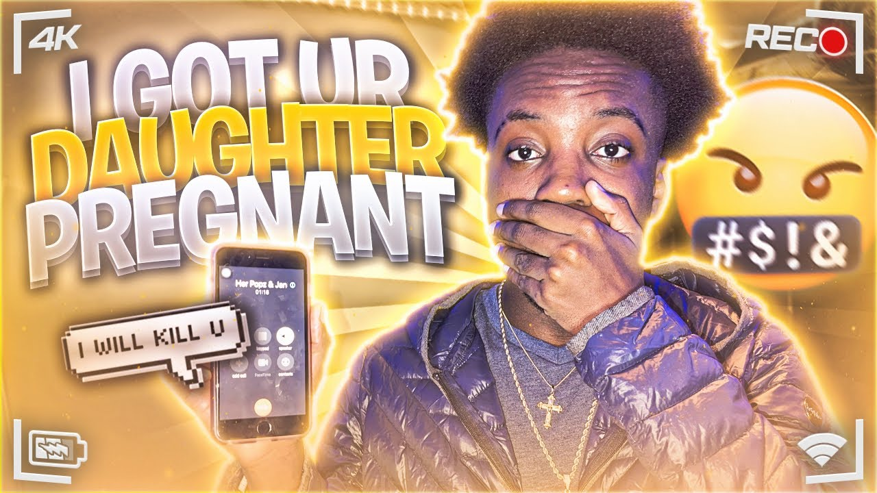 I Got Your Daughter Pregnant Prank On HOOD FATHER **GOT HEATED**