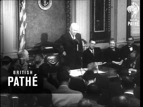 President Eisenhower Says He