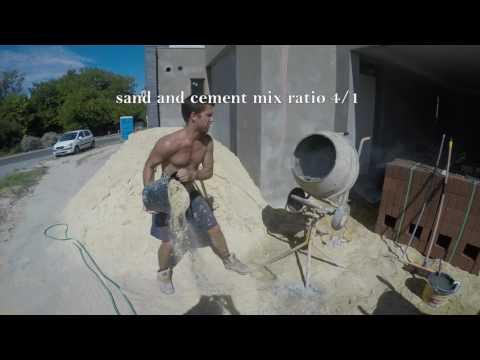 Sand & cement mix