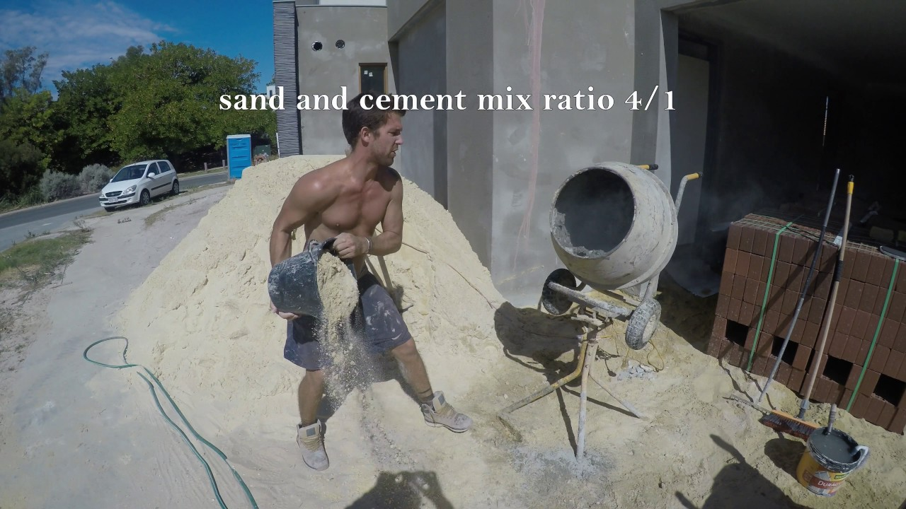 sand cement mix youtube. Black Bedroom Furniture Sets. Home Design Ideas