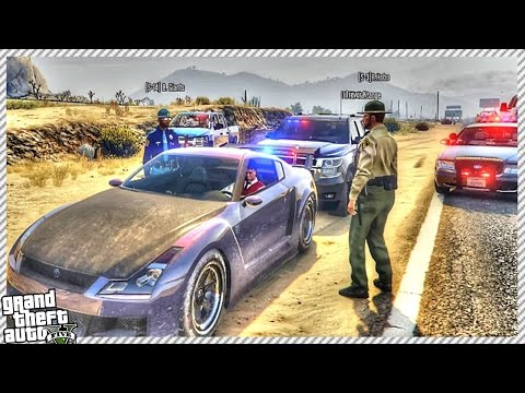 GTA 5 FUNNY ROLE-PLAY | CRAZY POLICE CHASE & ARRESTED BY POLICE (GTA 5 CUSTOM ROLE-PLAY SERVERS)