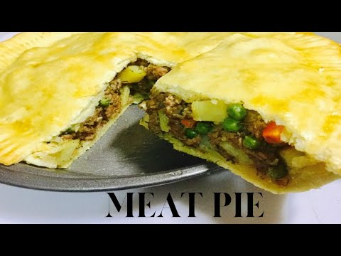 MEAT PIE - HOW TO MAKE MEAT PIE - DOUGH & FILLING FOR PERFECT MEAT PIE CRUST