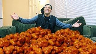 150 Orange Chickens In 10 Min Challenge!!!