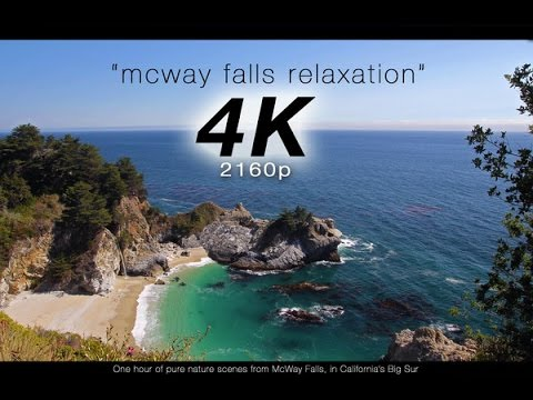 "[4K] ""McWay Falls Relaxation"" 1 Hour Pure Nature Video - Big Sur, California"