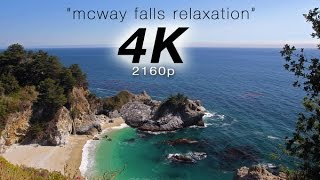 """[4K] """"McWay Falls Relaxation"""" 1 Hour Pure Nature Video - Big Sur, California"""