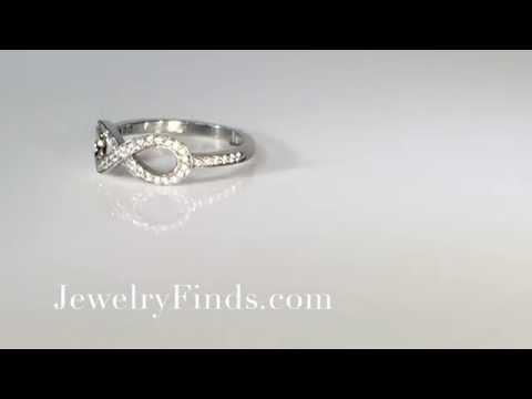 Infinity Diamond Ring Platinum Promise Wedding Graduation