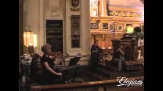 Música Para bodas en Zaragoza.Grupo Elegia con Ascencion Milagro. C.Franc  Panis Angelicus.