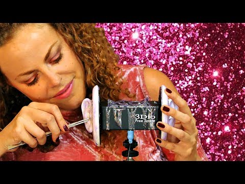 ASMR Ear Cleaning Glitter Glue With Brushing & Ear Massage –