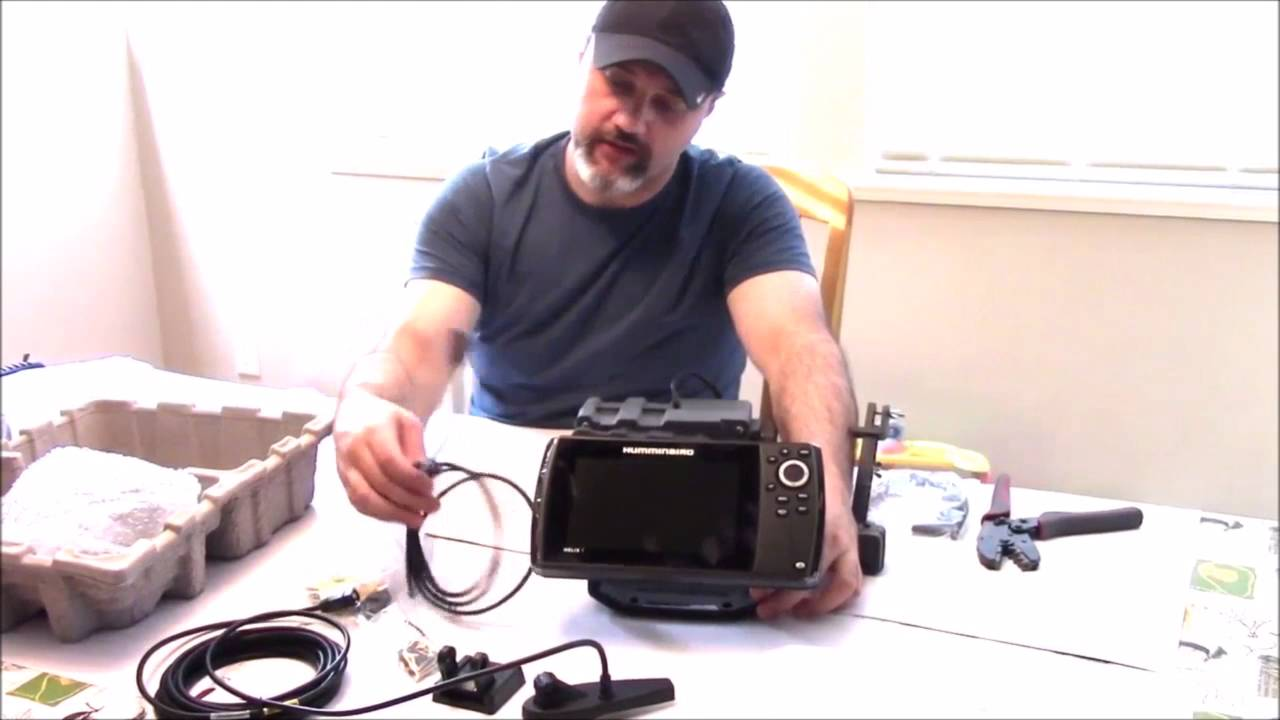 unboxing & assembly of helix 7 di gps - youtube, Fish Finder