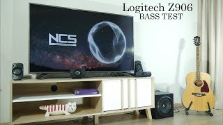 Logitech Z906 sound & dB bass tests [without sub grill]