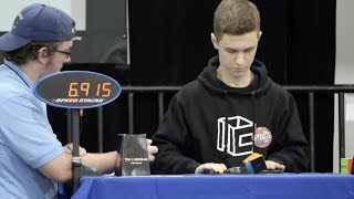 [2018 US National Champion] 8.71 Official Square-1 Winning Average!