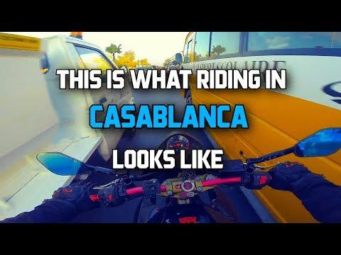 Casablanca: la foule (What riding in Casablanca looks like)