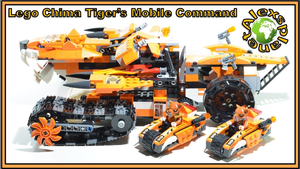 how to make a tiger out of lego