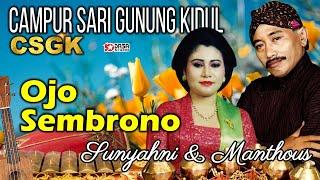 Download Mp3 Manthous - Sunyahni - Ojo Sembrono