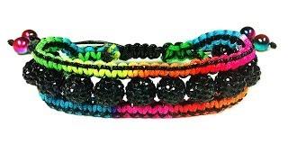 "DIY: macrame friendship bracelet shamballa ""Сharm"" / Браслет своими руками шамбала ""Шарм"""