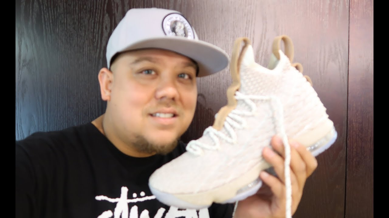 bb132a4417c NIKE LEBRON 15 GHOST SNEAKER DETAILED REAL DETAILED REVIEW IN HAND ...