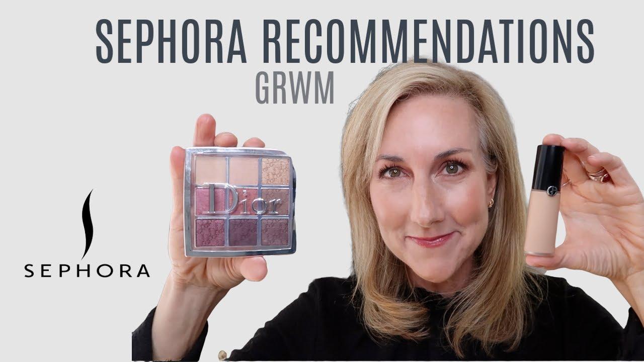 GRWM   USING SEPHORA RECOMMENDATIONS   NEW! ARMANI LUMINOUS SILK CONCEALER   DIOR   HOURGLASS