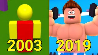 Evolution of Dynablocks Roblox 2003-2019
