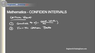Confidence Intervals -- Fundamentals of Engineering FE EIT Exam Review