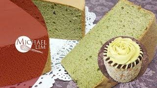 Green Tea Sponge Cake / Matcha Sponge Cake / How to frost a mini cake