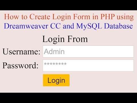 [DIAGRAM_38DE]  How To Create Login Form in PHP Using Dreamweaver CC and MySQL Database?  [With Source Code] - YouTube | Cc.php |  | YouTube