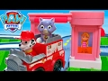 PAW PATROL ROLL PATROL MARSHALL SAVES THE KITTY IN ADVENTURE BAY FULL COLLECTION PLAYSETS