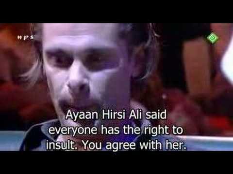 Muslim girls collide with Hans Teeuwen  Subtitled