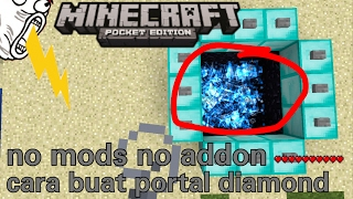 Cara buat portal diamond di minecraftPE no mods