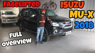 New ISUZU MU X Facelift Review in hindi new launch 2018 SUV eagle inspire