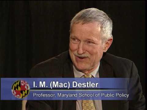 I.M. (Mac) Destler (Part 1)