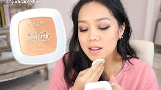 NEW 16 Hr Loreal True Match Mineral pressed powder first impression review - itsjudytime