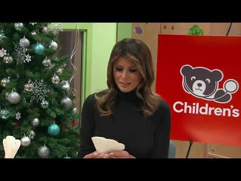 watch:-melania-trump-shares-christmas-spirit-at-children's-hospital