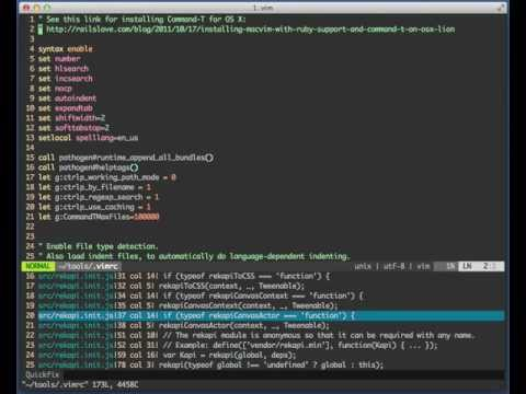 Vim plugins for navigating code