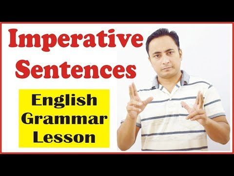 Imperative sentences (आज्ञासूचक वाक्य) in English Grammar | Concept, Use & Examples in Hindi