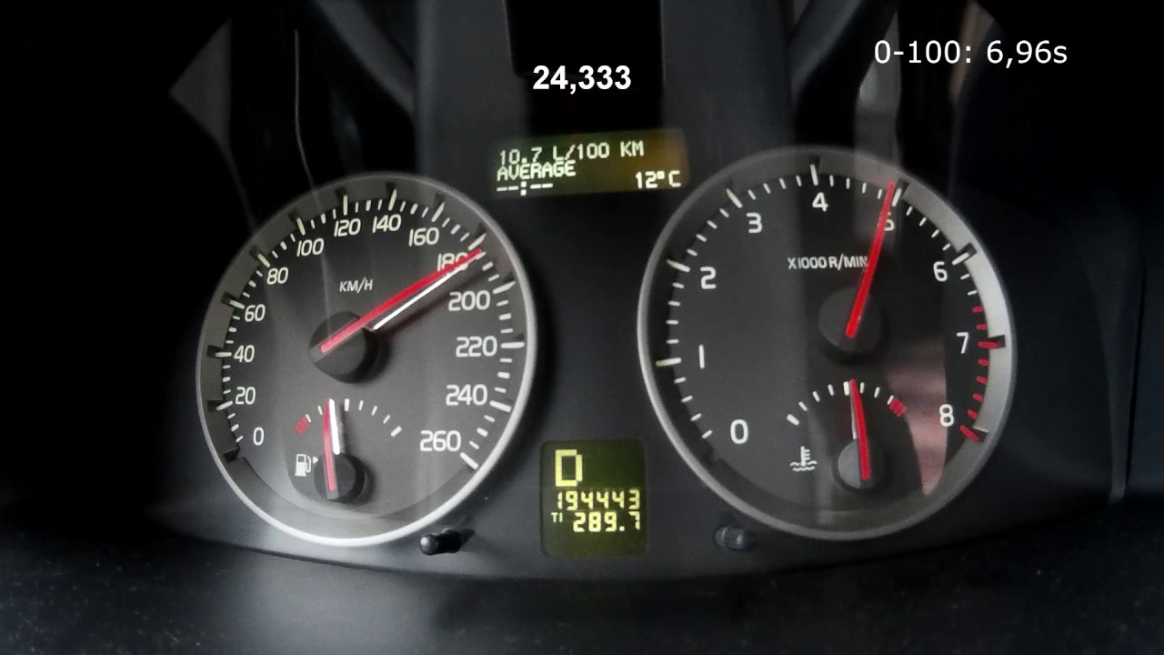 Volvo V50 T5 FWD - ARD tune - Acceleration 0-200 and 80-120 km/h