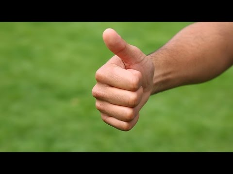 Watch This Breathtaking Slow Motion Footage Of A Thumbs Up