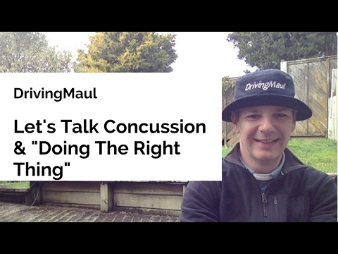 "Let's Talk Concussion & ""Doing The Right Thing"""