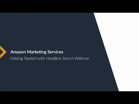 [US] Amazon Marketing Services 101 - Getting Started with Headline Search Ads