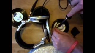 dismantling the sony mdr v700dj dj headphones by customcans co uk