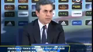 Uefa Avrupa Ligi Yarı Final Benfica - Fenerbahçe Aykut Kocaman Basın Toplantısı