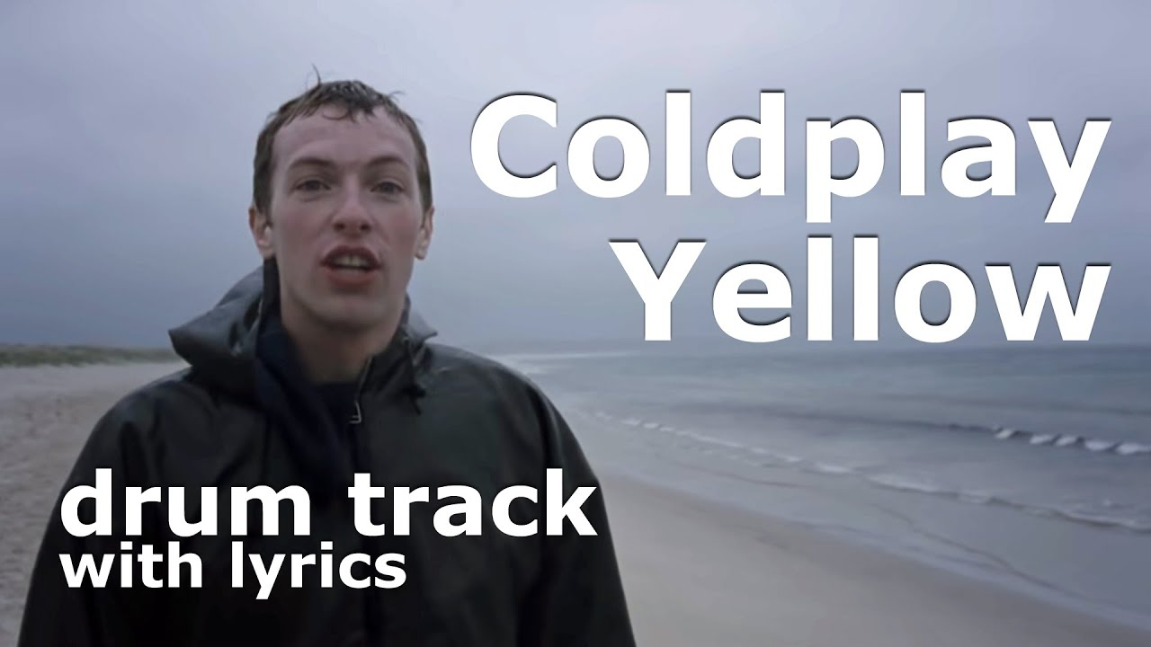 Coldplay Yellow Backing Drum Tracks for Guitar Practice with