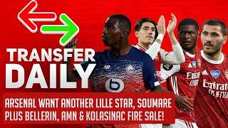 Arsenal Want Lille Star Soumare Plus Bellerin, AMN & Kolasinac Fire Sale! | AFTV Transfer Daily