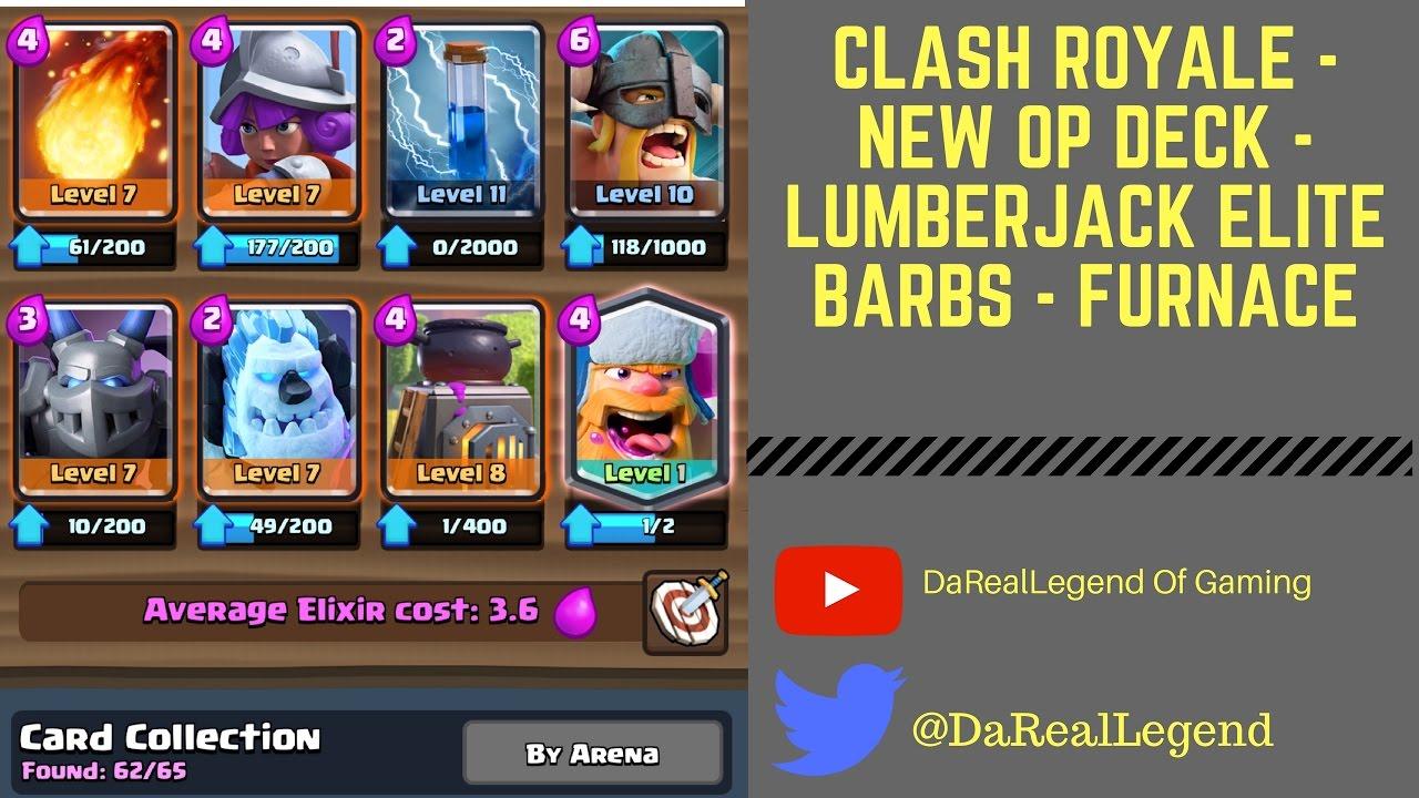 Miner Lumberjack And Giant Push Deck Frozen Peak Live Battles Clash Royale Strategy You