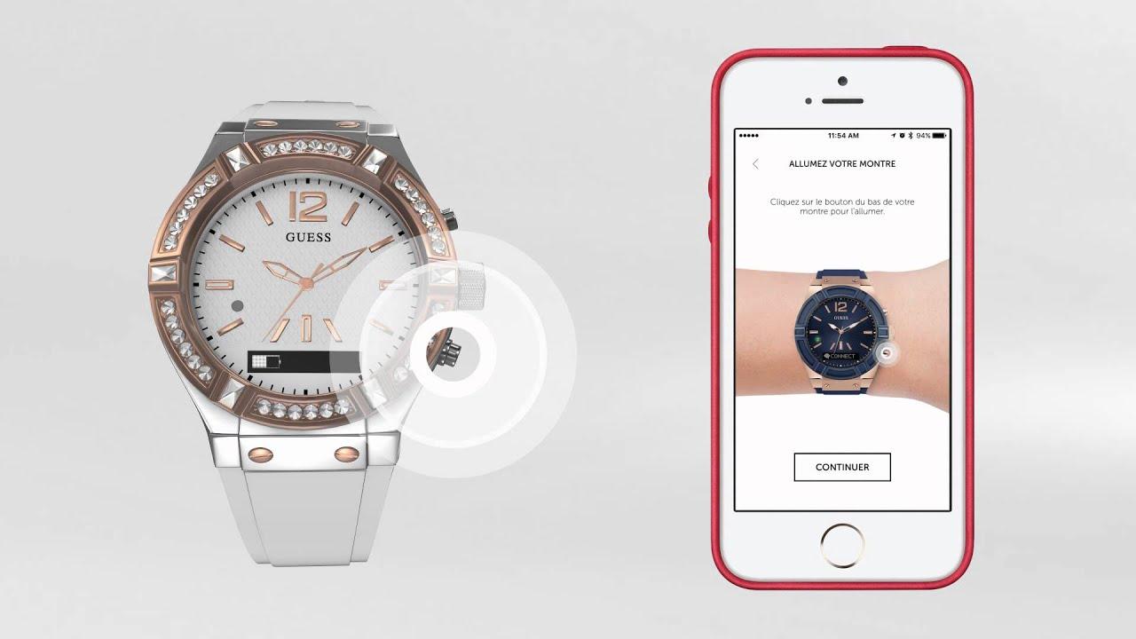 comment coupler la montre guess connect pour une utilisation avec un iphone ou autre appareil. Black Bedroom Furniture Sets. Home Design Ideas