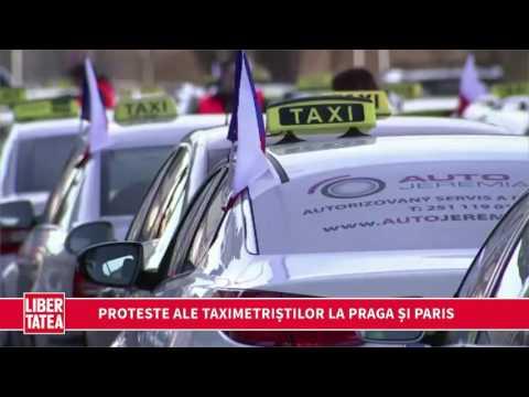 Proteste ale taximetriștilor la Praga și Paris