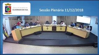 Sessão Plenária 11/12/2018