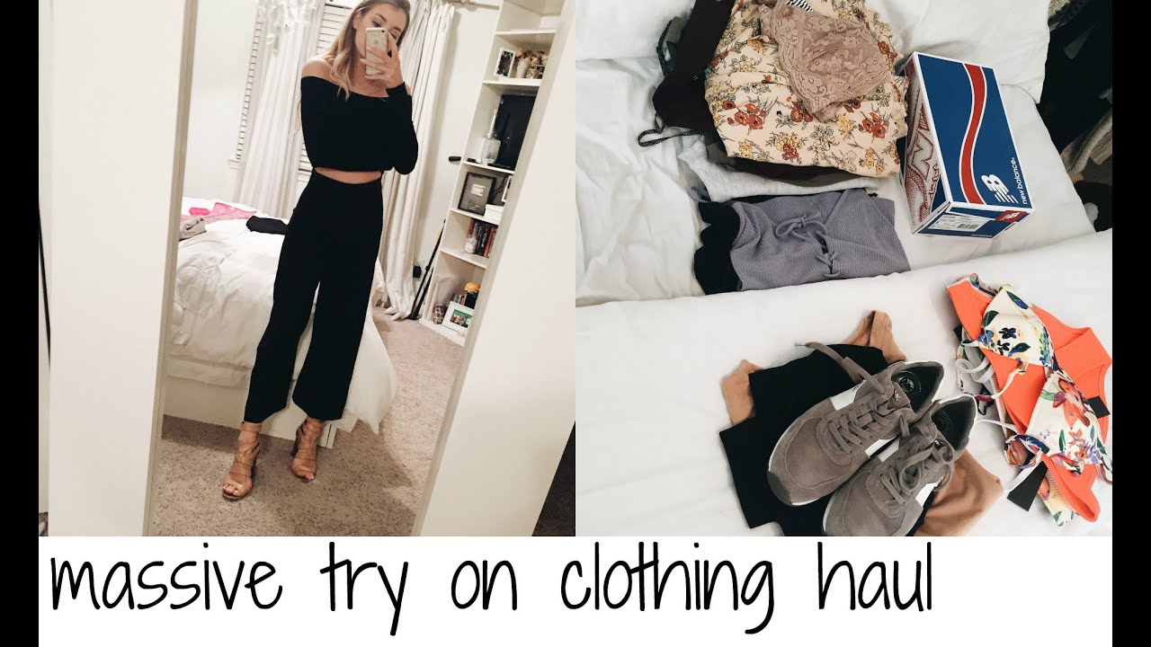 MASSIVE TRY ON CLOTHING HAUL: UO, LULUS, BRANDY MELVILLE, & MORE! - YouTube